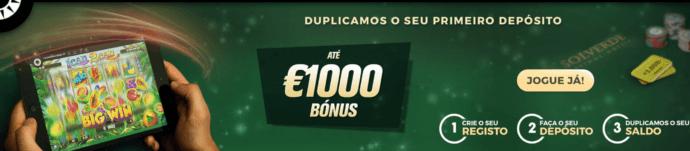 Casino Solverde bónus 1000 euro