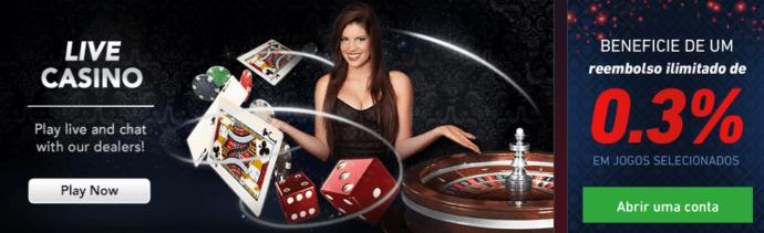 Pinnacle casino em tempo real