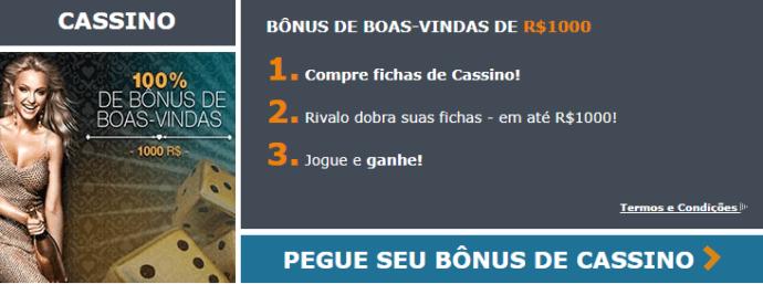 Rivalo Bónus de Boas-Vindas em Casino