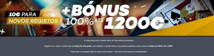 Bet.pt codigo promocional casino